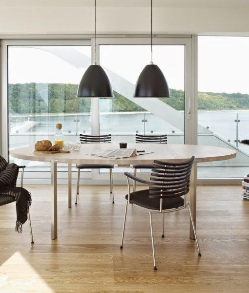 naver collection gm2100 tisch mit ovaler platte nordic urban gmbh. Black Bedroom Furniture Sets. Home Design Ideas