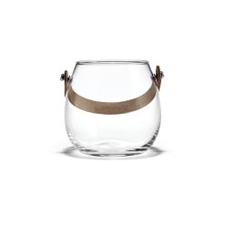 Holmegaard Glasschale mit Lederhenkel