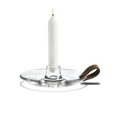 Holmegaard Kerzenhalter mit Lederhenkel