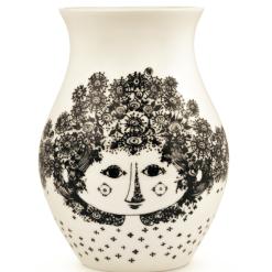Vase Felicia, schwarz, H18cm
