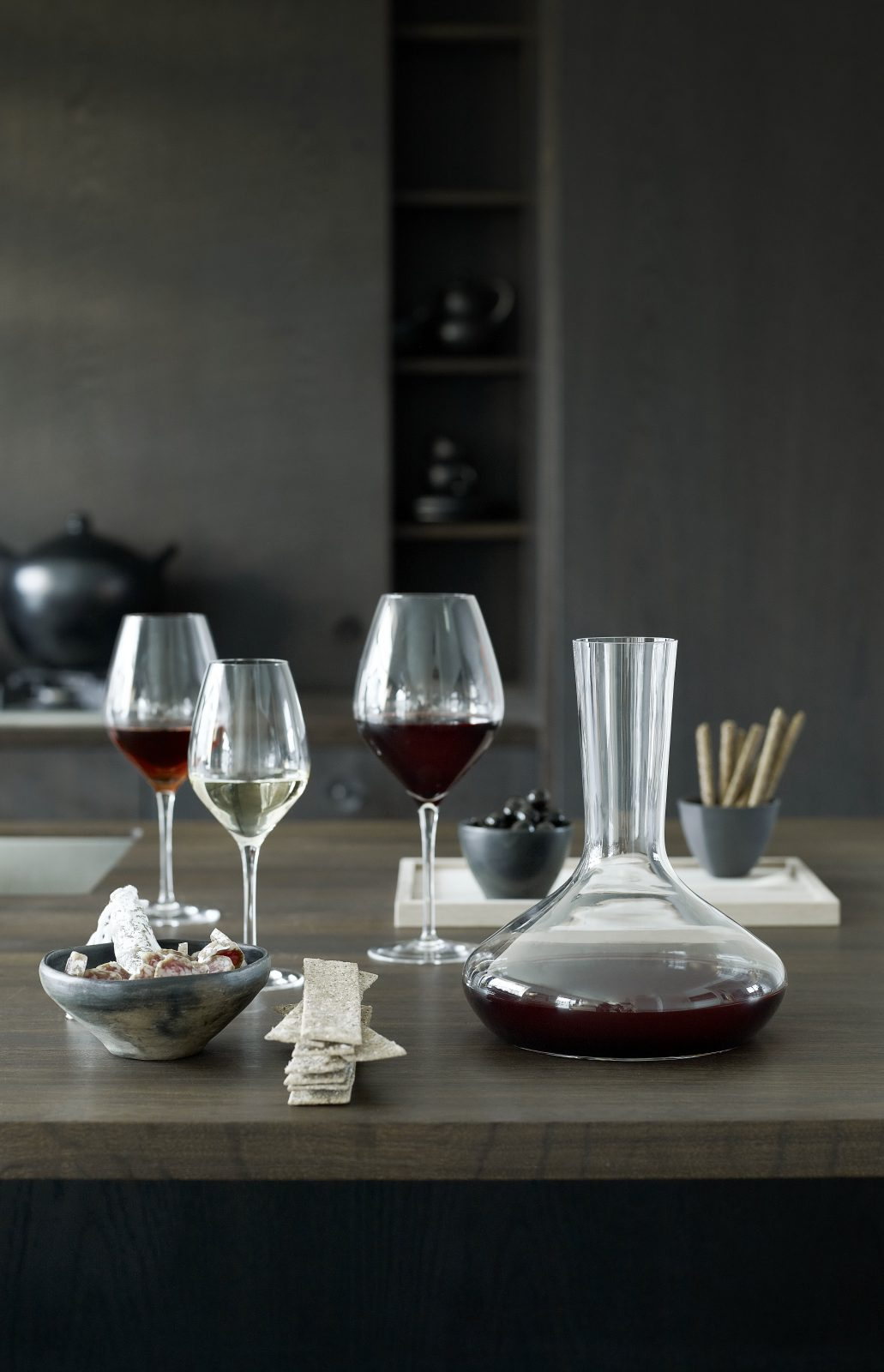A Carafe That Is A Blind Glass holmegaard cabernet wine carafe