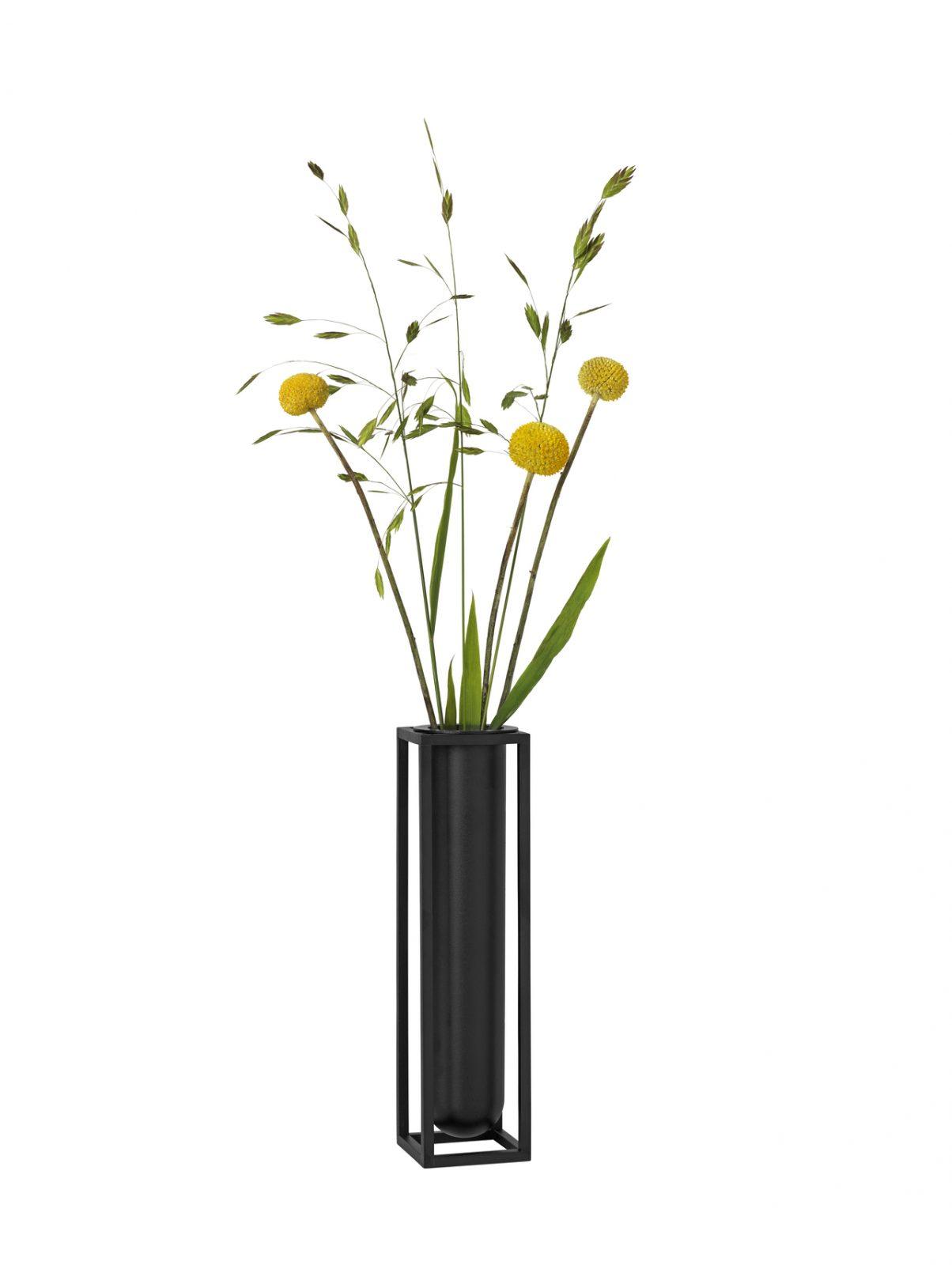 by Lassen Kubus Vase Flora Weiß