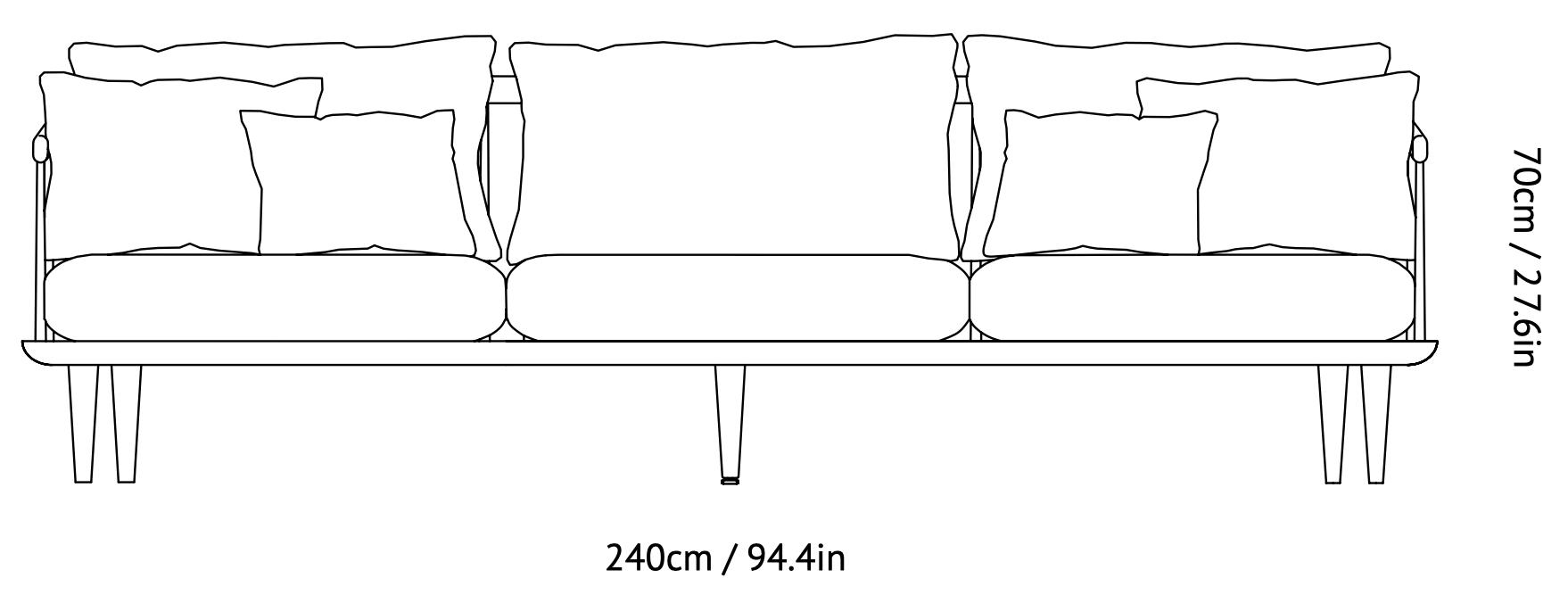 &Tradition - Fly Sofa SC12