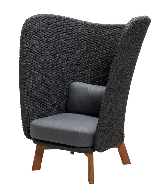 Pea Wing Highback Lounge Chair